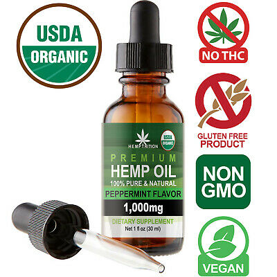 Natural Premium Hemp Oil Extract for Pain Relief, Stress, Anxiety, Sleep 1000MG