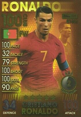 Match Attax 101 2019 Cristiano Ronaldo 100 Hundred Club No 191 Mint