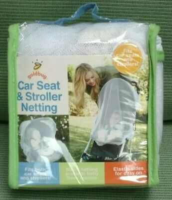 Car Seat & Stroller Netting - Protect Baby From Insects, 1 pc,(Gold Bug)