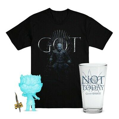 Funko POP! Game Of Thrones HBO Shop Glow Crystal NIGHT KING Bundle #2 Size Large
