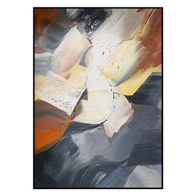 VV379  Modern hand-painted Abstract color block oil painting on canvas