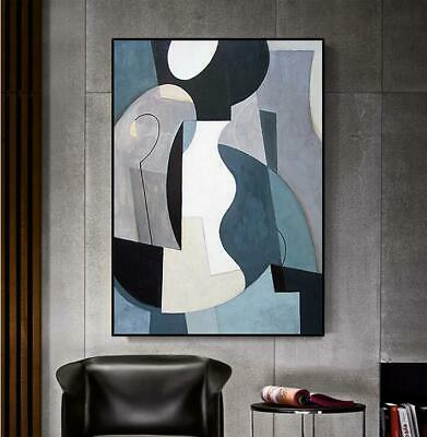 VV384 Modern hand-painted Abstract color block oil painting on canvas  48''