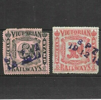 1900's Victorian  Railways Stamps 1d, 6d x 2 used,  Rare