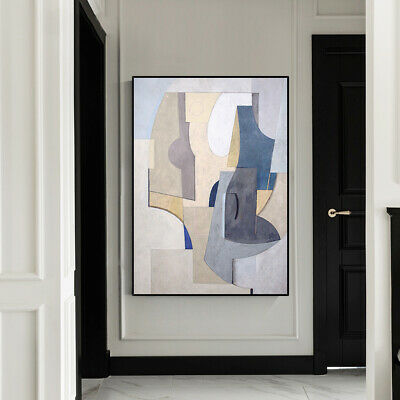 VV385 Modern hand-painted Abstract color block oil painting on canvas  48''