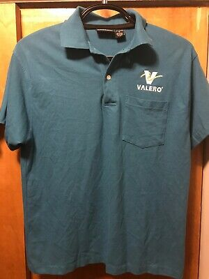 VALERO ENERGY OFFICIAL MED Convenience Store Gas Station Uniform Work Polo Shirt