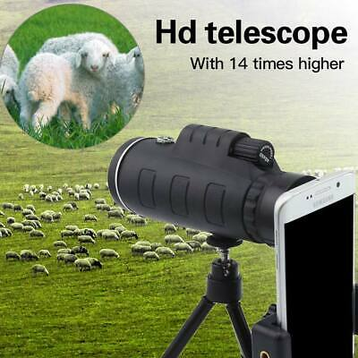 US HD 40X60 Optical Zoom Clip on Camera Lens Phone Telescope + Tripod For ZTE