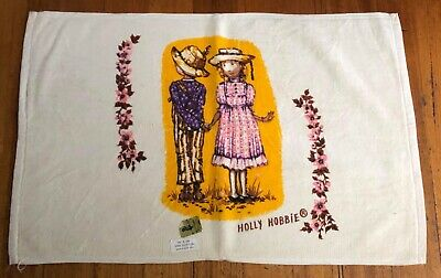 Vintage Retro Holly Hobbie Towel Excellent Condition As New Cotton Usa