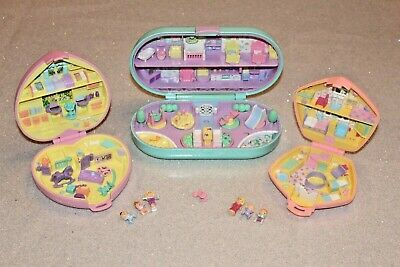 Vintage Polly Pocket Compacts With Figures - Baby Daycare Themed