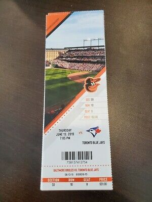 Biggio 2 HR Baltimore Orioles Blue Jays MINT Season Ticket 6/13/19 2019 MLB Stub