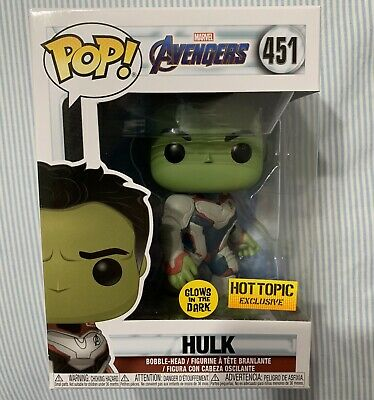 Funko pop Avengers Endgame hulk GITD hot topic exclusive! Sold out !