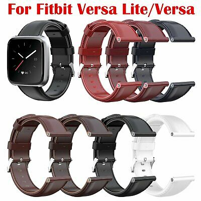 Luxury Wristband Leather Watch Strap Band for Fitbit Versa Lite/Versa 120+87mm