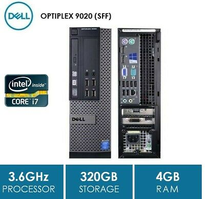 SFF, DELL OPTIPLEX 9010, Intel Core i7-3770, 4GB, 250GB, DVDRW, NO OS, WIN7 COA