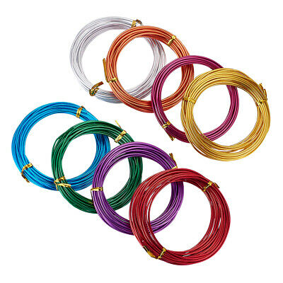 8Roll Aluminum Wires Beading Wire For DIY Craft Jewelry Making Mixed Color 2mm