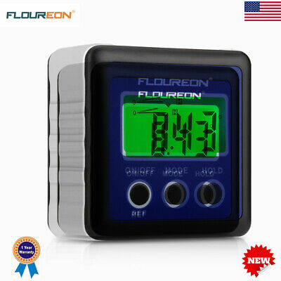 Digital Bevel Box Gauge Angle Finder Protractor LCD Inclinometer Meter IP54 USA