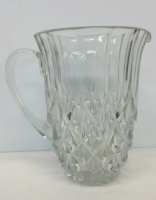 Val St. Lambert Crystal Imperial Glass Pitcher 7 7/8'' Height Belgium