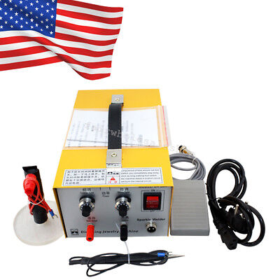 Jewelry Welding Machine Electric Pulse Sparkle Spot Welder Platinum Gold Silver