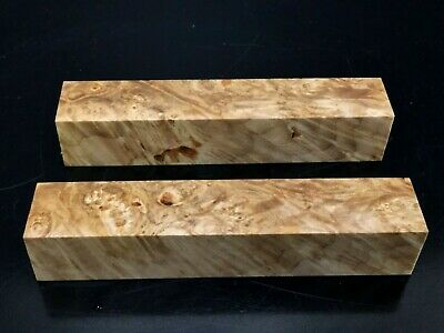 "PB13) 2 Maple Burl Pen Turning Blanks 7/8"" Reel Set"