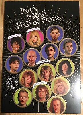 2019 Rock & Roll Hall of Fame VIP Induction Ceremony Dinner Program Book...NEW