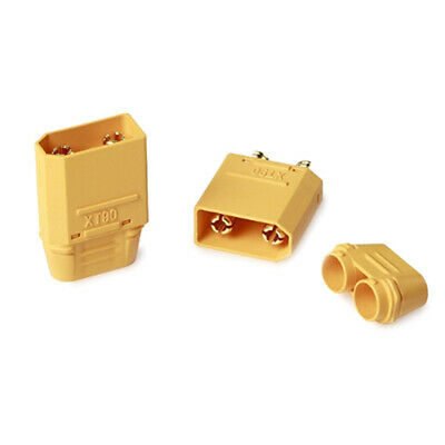 2 pairs XT90 battery connector set 4.5mm male gold plated banana plugDDE