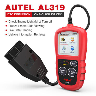 Autel Autolink AL319 OBD2 Scanner for Ford Chevrolet Dodge GMC Jeep Toyota Benz