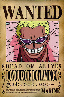 One Piece WANTED Poster (A3: 27 x 41 cm)  – DONQUIXOTE DOFLAMINGO