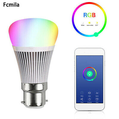 Wi-Fi Smart LED Light Bulb Wireless Dimmable RGB Lamp For Alexa App Control