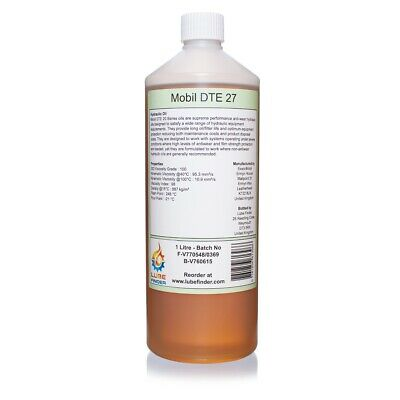 1L Mobil DTE 27 ISO VG 100 Hydraulic Oil