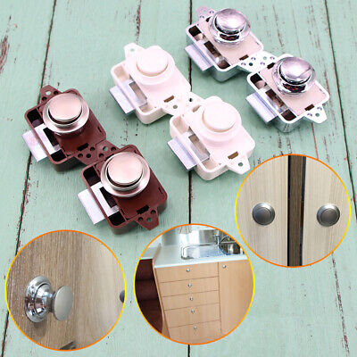 Large Push Lock Button Catch Drawer Cupboard Furniture Door Knob for Yacht 5Pcs