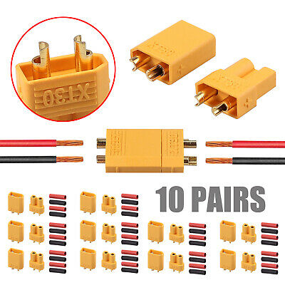 20* XT30 Plug Male Female Bullet Connector + Heat Shrink For RC Lipo Battery new