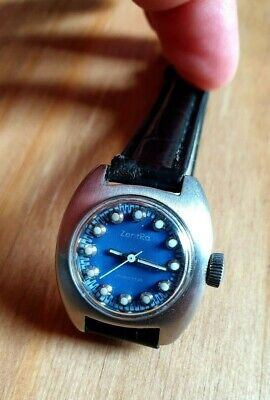 Zentra Manta VERY RARE LADIES MECHANICAL WATCH Full Steel 17 Jewels With Date