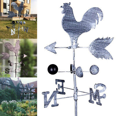 Traditional Rooster Weathervanes Iron Wind Vane Wind Speed Direction Indicator
