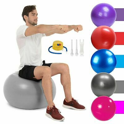 Exercise Gym Yoga Swiss Ball Fitness Pregnancy Birthing Anti Burst Core WithPump