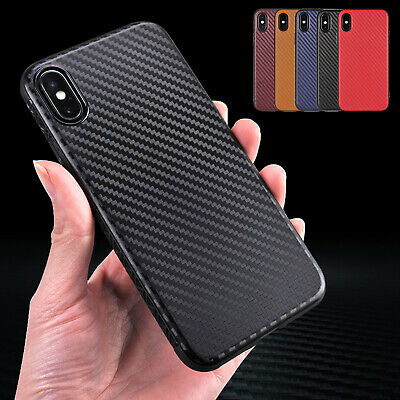 For iPhone XS Max Case XS XR 8 7 Plus Luxury Carbon Fiber Slim Shockproof Cover