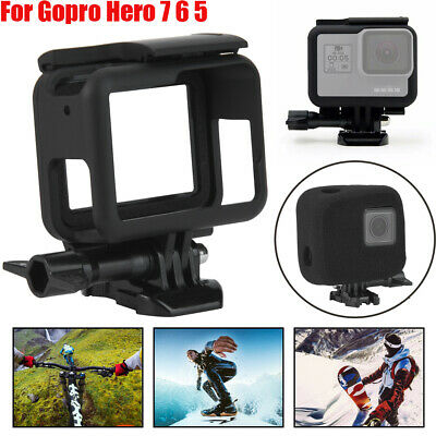 Protective Frame Housing Case Windscreen Foam Cover For Gopro Hero 7 6 5 Camera