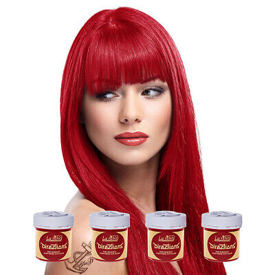 La Riche Directions Poppy Red Semi-Permanent Colour Hair Dye Kit 4 Pack 88ml