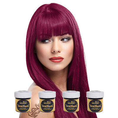 La Riche Directions Rubine Red Semi-Permanent Colour Hair Dye Kit 4 Pack 88ml