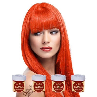 La Riche Directions Tangerine Semi-Permanent Colour Hair Dye Kit 4 Pack 88ml