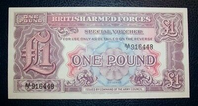 BRITISH ARMED FORCES £1 BANKNOTE 2nd SERIES AA/7