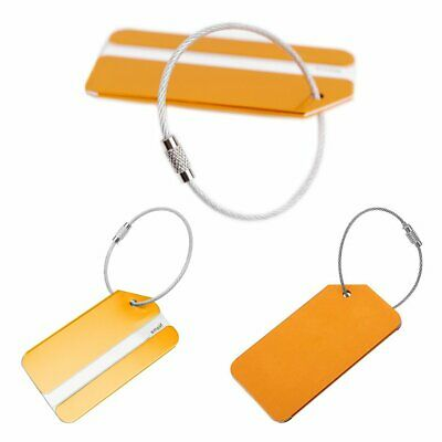 1/4Pcs Aluminium Metal Travel Luggage Baggage Suitcase Address Tags Label