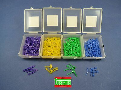 Dental Wedges Plastic With Hole All Sizes Assorted Kit /4 Box 400 Pcs | TOSCANA