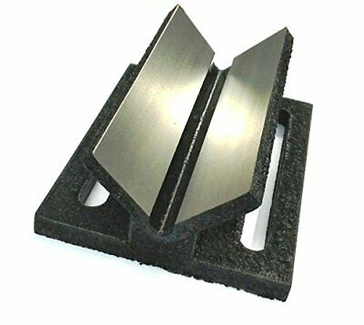 """Caste Iron V Block Jig Fixture for Center Drilling on a Round Work-piece 2"""""""