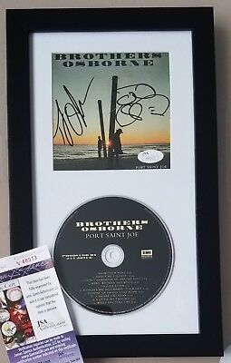BROTHERS OSBORNE signed cd display JSA COA framed autograph country music album