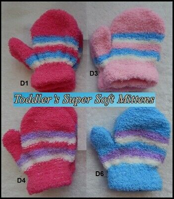 Baby Infant Toddler MITTENS Soft Knit GLOVES Winter Warm Stretch Knit 1 Pair NEW