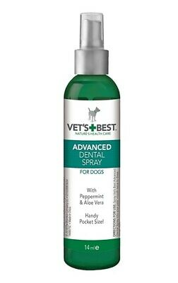 Vets Best Advanced Dental Spray Pocket Size Dog Puppy Oral Health Teeth Clean