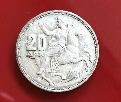 1960 Greece 20 Drachmas Coin - Ref  334