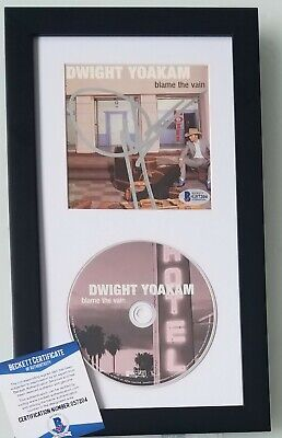 DWIGHT YOAKAM autographed cd display BAS COA BECKETT signed country music album