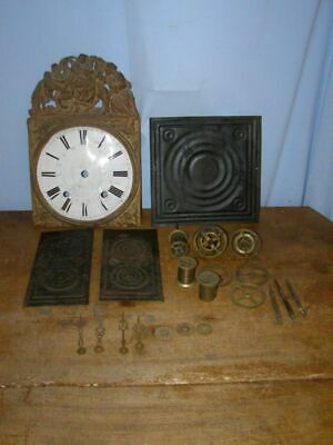 Lot 19 old pieces of comtoise movement