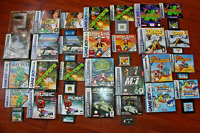 Job Lot Of Boxed Gameboy, Gameboy Color & Gameboy Advance Games.
