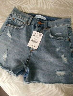 c2d6b6d2 Brand New High Waisted Zara Denim Shorts In Size Uk6 / Eur 34