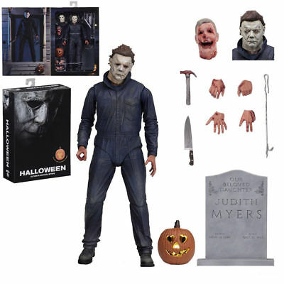 """Halloween (2018) MICHAEL MYERS 7"""" Scale Ultimate Action Figure NECA In Stock"""